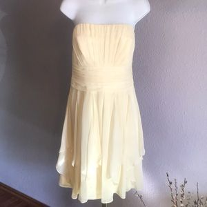 Trending David's Bridal Chiffon Strapless Dress